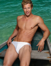 Men's Solid White EDEN Drawstring Swim Brief Fully Lined NEW Size L