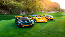 "McLaren P1 GTR Sports cars CAR Silk Poster Print - 24x36"""