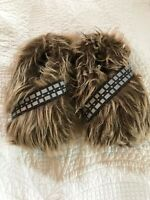Star Wars Chewbacca Slippers Wookie Fur Feet Kids Youth Size 13