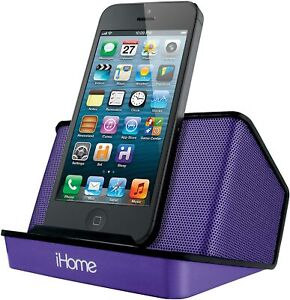 iHome Portable Rechargeable Stereo Speaker System Purple