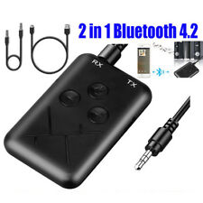 Portable Bluetooth 4.2 Transmitter Receiver 3.5mm Wireless Stereo Audio Adapter