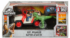 Matchbox Jurassic World Fallen Kingdom Jeep Wrangler Raptor Attack R/C Owen NEW