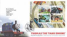14 GIUGNO 2011 Thomas The Tank M/foglio di Royal Mail FIRST DAY COVER BOX Corsham SHS