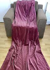 Cortinas De Terciopelo Preciosa Vintage Rosa Frambuesa L2.2m X W1.15 por cortina