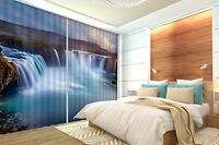 3D Waterfall 45 Blockout Photo Curtain Printing Curtains Drapes Fabric Window AU