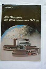 Orig. Siemens Prospekt / Katalog 1981 TV Hifi Video Radiorecorder usw