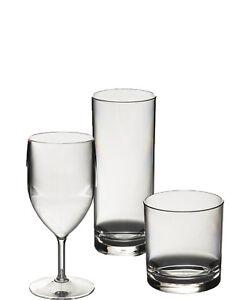 Set of Wine, Whisky & Hibal Polycarbonate Plastic Unbreakable Reusable Glasses.