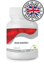 Iron Mineral 14mg Tablets Nutrition Hemoglobin