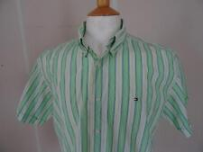 Tommy Hilfiger Men's Cotton Short Sleeve Striped Casual Shirts & Tops