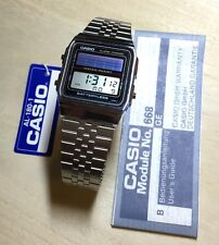 rare vintage casio AL-180 AL180 solar watch Battery Less Made In Japan NOS NEW