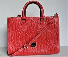 "Authentic Red DOONEY & BOURKE Handbag Purse Satchel Embossed Logo ""Janine"""