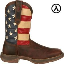 REBEL BY DURANGO PATRIOTIC PULL-ON WESTERN BOOTS DB5554 * ALL SIZES - NEW