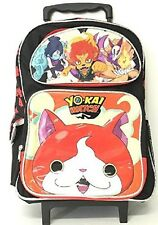 """Yo-kai Watch Large School 16"""" Rolling Backpack Boy's Book Bag Authentic Licensed"""