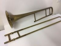 Vintage Grand Rapids USA Line Trombone Band Stand Musical Marching Instrument