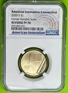 2020 S $1 American Innovation CT Gerber Variable Scale NGC Reverse PF70 (35)