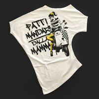 Maxi T-Shirt Asimmetrica in Cotone Bianco con Stampa Bambina Fun&Fun FUNJTS2608