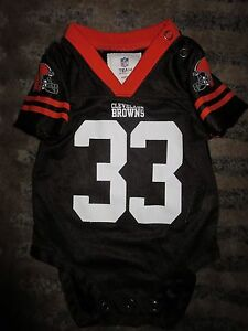 Cleveland Browns NFL One Piece Jersey Baby 3/6 Infant Cute!