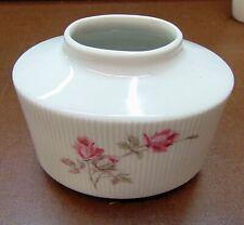 Alka Kunst  Alboth & Kaiser ovale Vase  geriffelt mit  Rosendekor