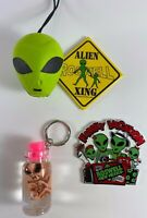 Lot of 4 ALIEN UFO Keychain Magnet Rosewell New Mexico