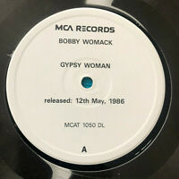 "Bobby Womack ‎– Gypsy Woman  1986 UK Vinyl 12"" Promo  MCAT1050DL  MINT  UNPLAYED"