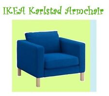 """IKEA Karlstad Korndal""""Medium""""Electric Blue Chair COVER ONLY Armchair NEW Tweed"""