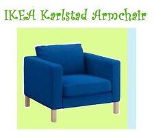 "IKEA Karlstad Korndal""Medium""Electric Blue Chair Cover Armchair NEW Tweed Bright"