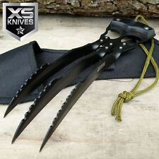 """10"""" Black Wolverine Style Carbon Steel Fixed Blade Fantasy Hunting Claw Knife"""