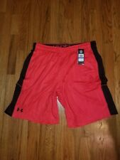 New Under Armour Men's DFO Short Printed Red Size XL & Free Shipping