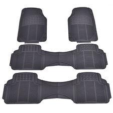4 PCS All Weather Van Car Rubber Floor Mat Heavy Duty Front Rear Liners Black