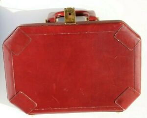 Vintage small leather Shell Suitcase