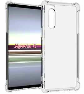 Crystal Clear Gel Silicone Case Shock Proof Cover for Sony Xperia 5