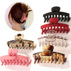 Glossy Large Acetate Hair Claw Clip Solid Transparent Acrylic Hairpin for Shower