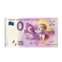 0 Euro Ataturk - Turkiye / Turkey Ataturk - TUAB - 0 Euro Souvenir