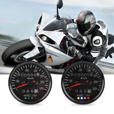 Universel 60mm LED Indicateur Compteur de vitesse Odomètre Imperméable Moto