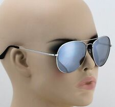 OVERSIZED VINTAGE RETRO Style SUN GLASSES PILOT COP SILVER MIRRORED METAL SHADES