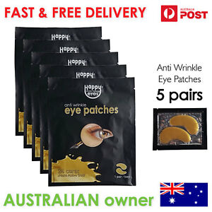 Happy Eyes Gold Anti wrinkle Eye patches - 5 Pairs