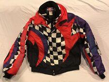 Vintage Polaris Indy Snowmobile Racing Jacket Coat Men's Size XL Checkered 90s