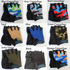 Children Kid Bike Gloves Half Finger Mitts Breathable Anti-slip For Riding Cycle