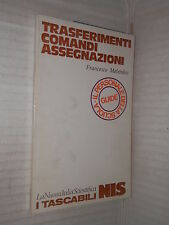 TRASFERIMENTI COMANDI ASSEGNAZIONI Francesco Melendez Nuova Italia Scientifica