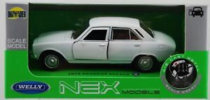 WELLY 1975 PEUGEOT 504 WHITE 1:34 DIE CAST METAL MODEL NEW IN BOX