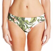 SEAFOLLY Ruched Retro Jungle Bottoms Size 10 In White Multi RRP £39