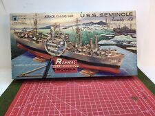 Rare Renwal 1950's U.S.S. Seminole Model Kit Beautiful Investment Quality!
