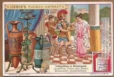 Ancient Greece Drinking Vessels Urns Vases Art 1903 Trade Ad Card g