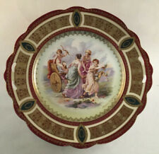 ANTIQUE ROYAL VIENNA STYLE BEEHIVE PORCELAIN HANDED PLATE ANGELICA KAUFFMANN