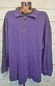 Polo Ralph Lauren Big & Tall Mock Neck Pullover Sweatshirt 3XL Preppy Sweater