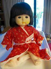 "VINTAGE JAPANESE ITCHIMATSU SEKIGUCHI 11"" RED KIMONO DOLL"