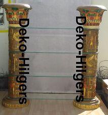 Ägyptische Regal Vitrine Bar Säulenregal  Säule Möbel Deko Anubis Möbel Groß 180