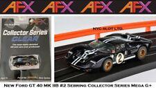 New listing New AFX Ford GT40 MK IIB #2 Mega G+ Fits Auto World, HO Slot Car AFX 22031