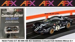 New AFX Ford GT40 MK IIB #2 Mega G+ Fits Auto World, HO Slot Car AFX 22031