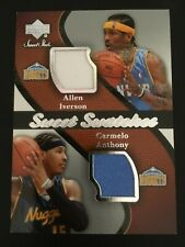 2007-08 Upper Deck Sweet Shot Swatches Jersey Carmelo Anthony / Allen Iverson